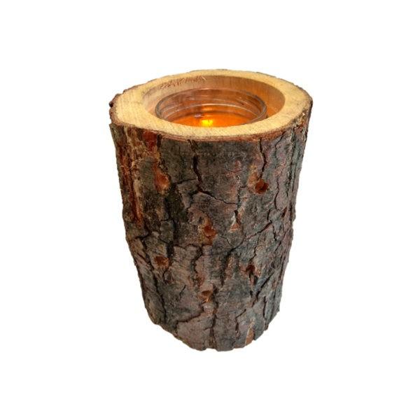 Lampion z pieńka drewna WoodsonDeko