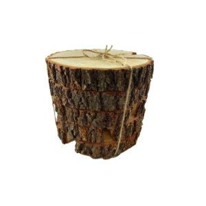 Plastry drewna WoodsonDeko 5 sztuk - ekologiczna dekoracja